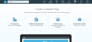 Create a LinkedIn Company Page - Step 3 - Type