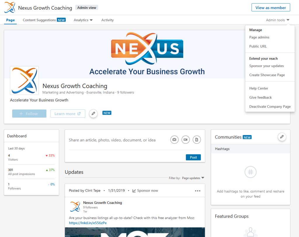 Create a LinkedIn Company Page - Step 5 - Profile