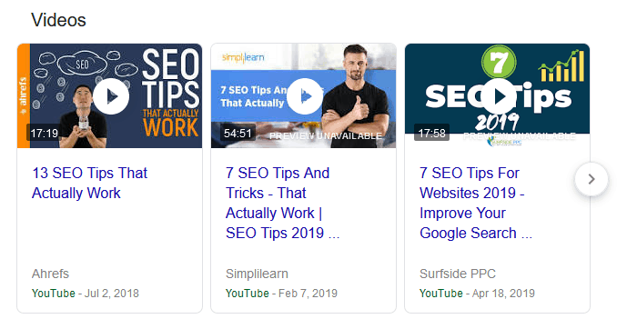 video-results-in-search
